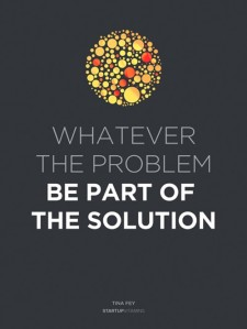 Be part of the solution